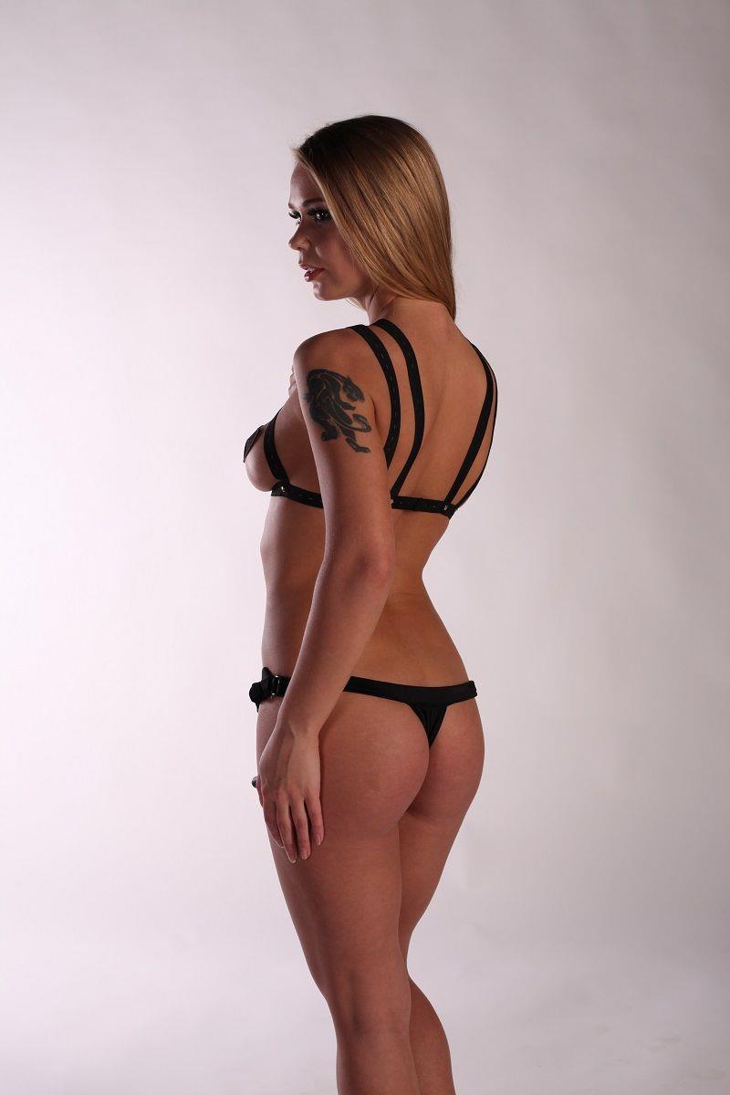 БДСМ костюм Fetish Night с анальной насадкой длиной (12 см)