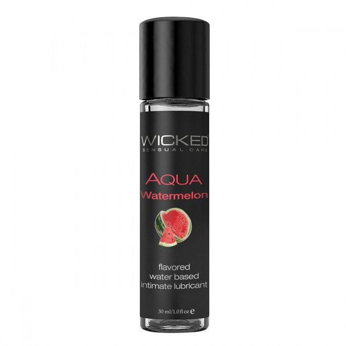 Лубрикант WICKED AQUA - Watermelon с ароматом арбуза (30 мл)