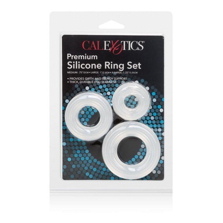 Набор из 3 колец на пенис Premium Silicone Ring Set