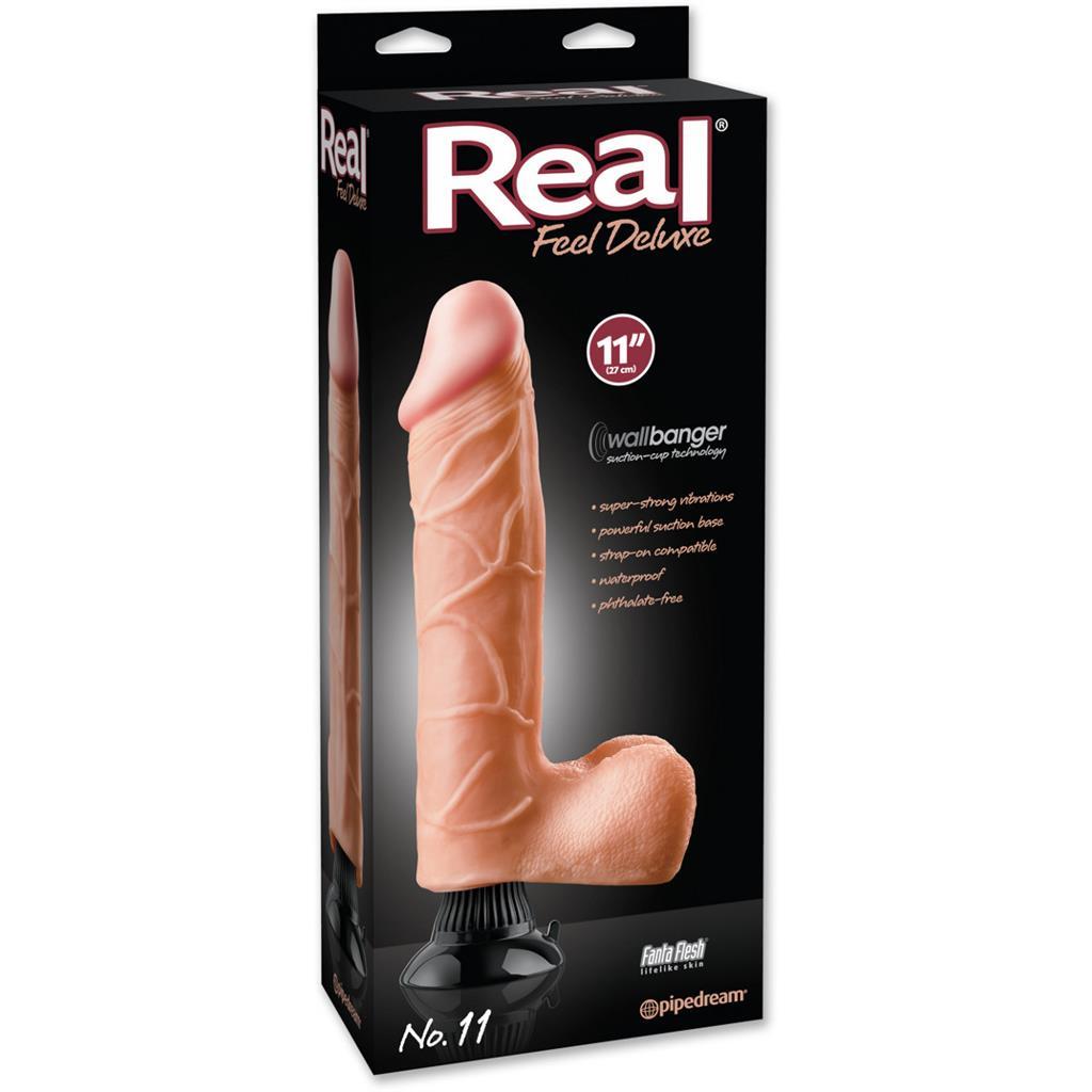 Реалистичный вибратор Real Feel Deluxe №11 - 32 см.