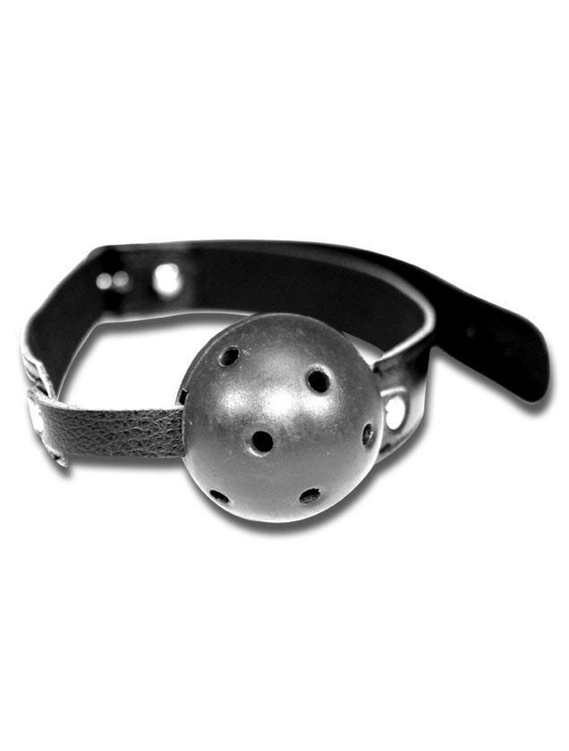 Чёрный пластиковый кляп-шар Breathable Ball Gag