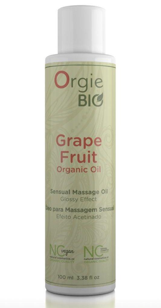 Органическое масло для массажа ORGIE Bio Grapefruit с ароматом грейпфрута (100 мл)