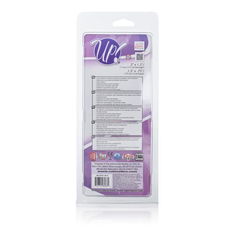 Фиолетовый вибромассажер Up! Scoop it Up! - 17,8 см.