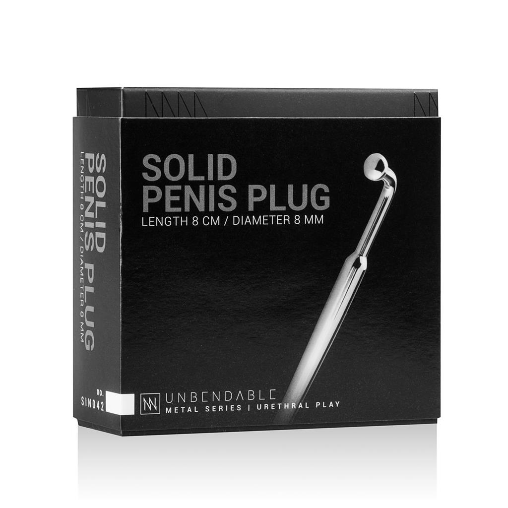 Уретральный стимулятор Sinner Curved Penis Plug - 9 см.