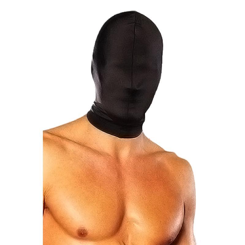 Черная глухая маска на голову «Stretch Hood»