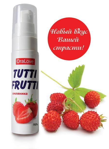 Гель-смазка Tutti-Frutti со вкусом земляники (30 гр)