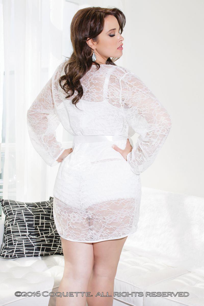 Легкий кружевной халат