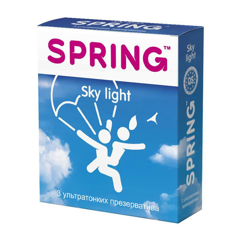 Ультратонкие презервативы SPRING SKY LIGHT (3 шт)