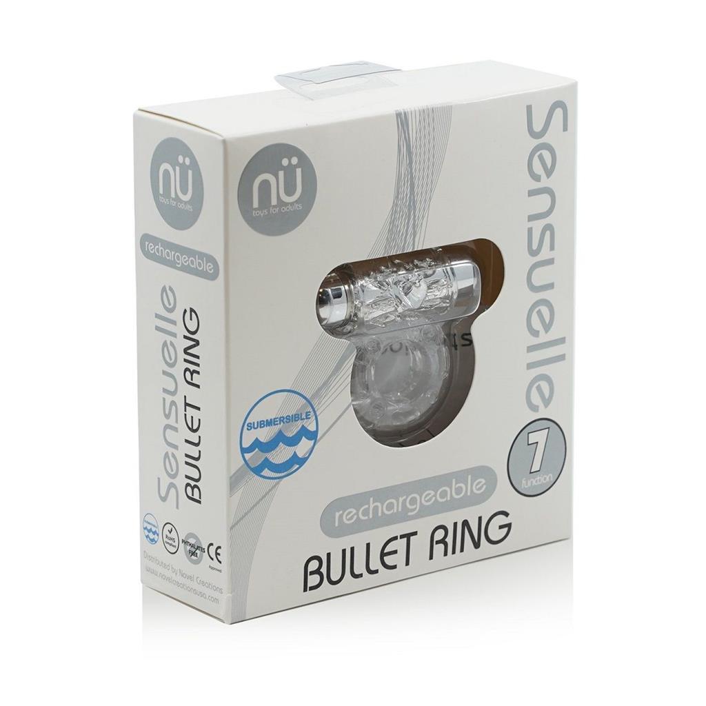 Прозрачное эрекционное виброкольцо BULLET COCKRING