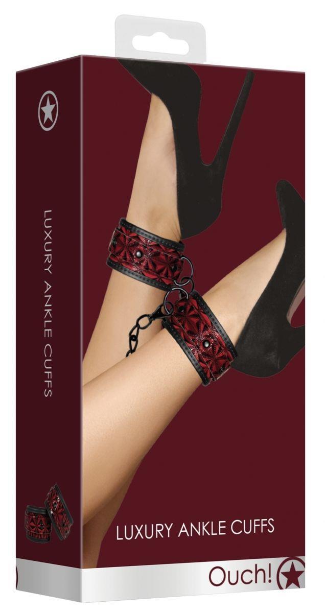 Красно-черные поножи Luxury Ankle Cuffs
