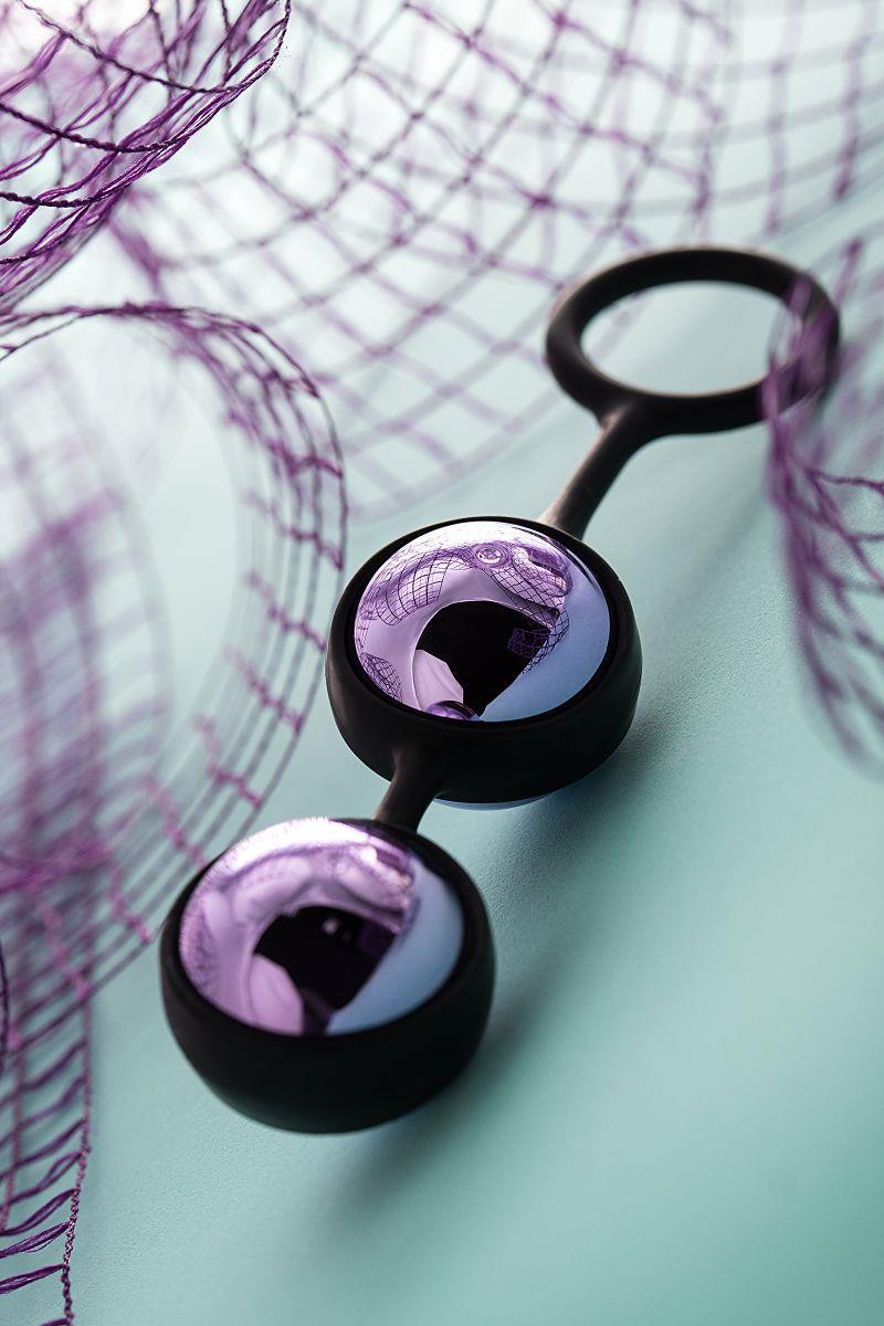 Фиолетово-черная вагинальные шарики A-toys