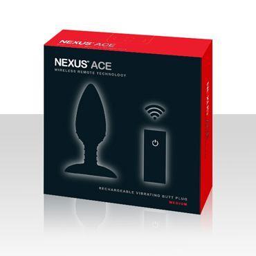 Чёрная вибровтулка NEXUS ACE MEDIUM с дистанционным управлением (12 см)