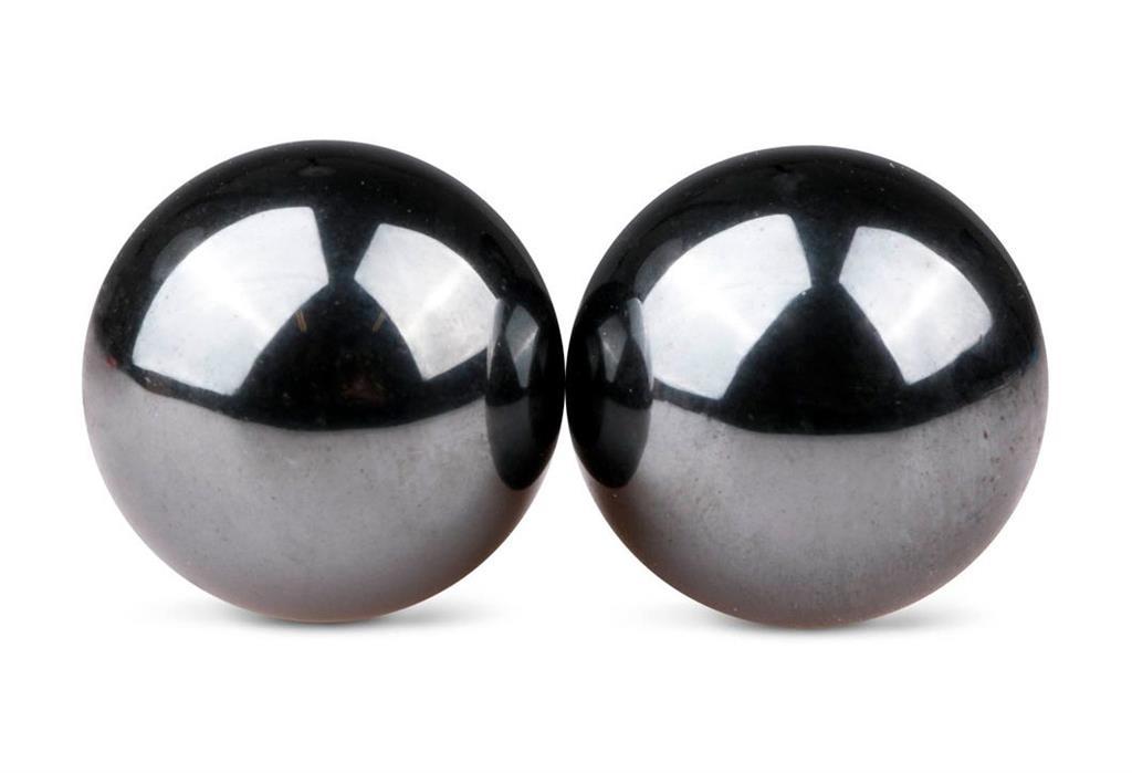 Темно-серые вагинальные шарики Ben Wa Balls без сцепки
