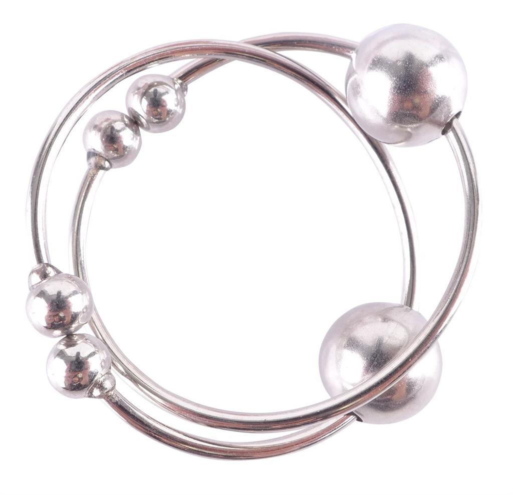 Серебристые колечки для сосков FETISH FANTASY NIPPLE BULL RINGS