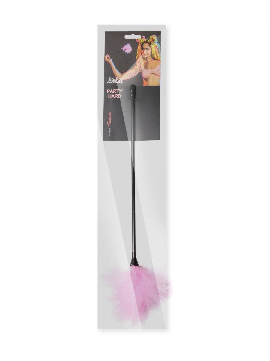 Розовый пуховый тиклер Treasure - 41 см.