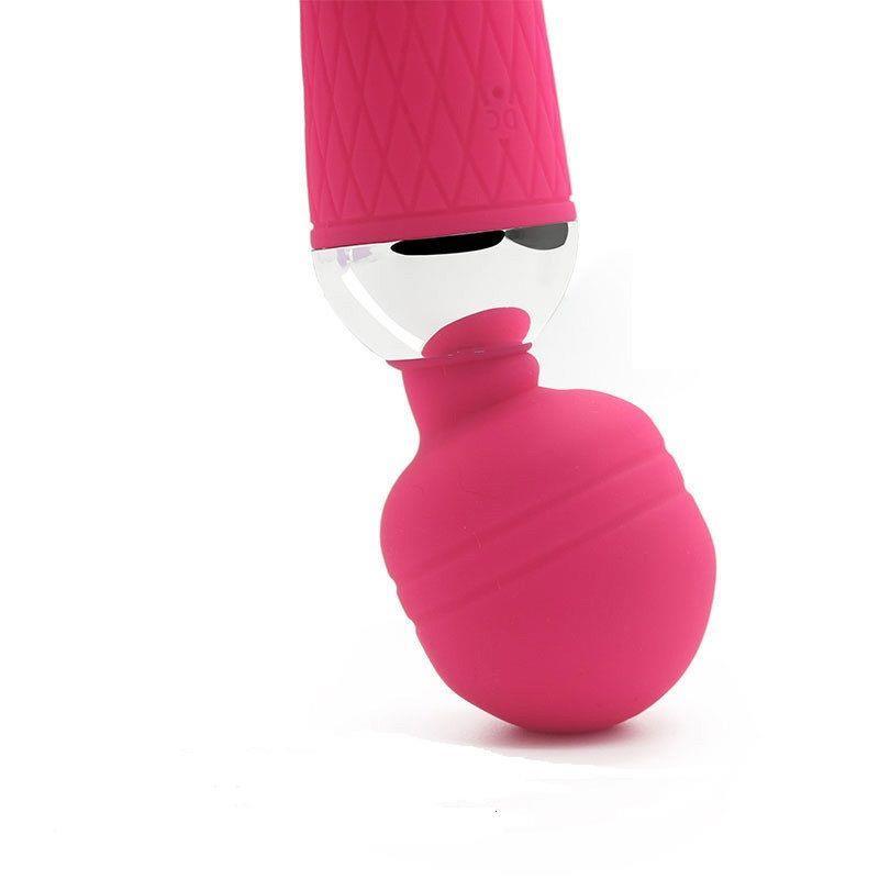 Розовый жезловый вибратор (19,5 см)