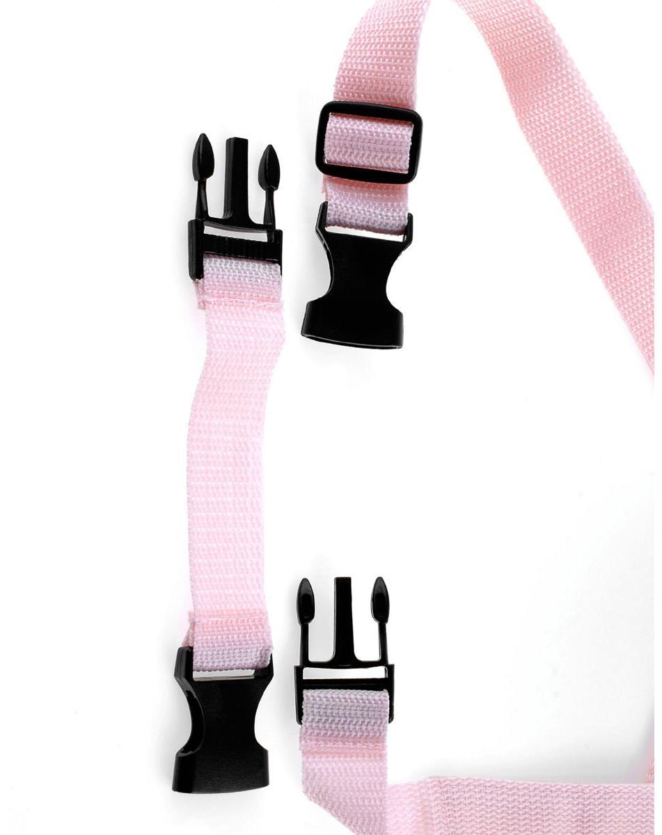 Нежно-розовый страпон с вибрацией «Tru-Fit Vibrating Strap-On» (16 см)