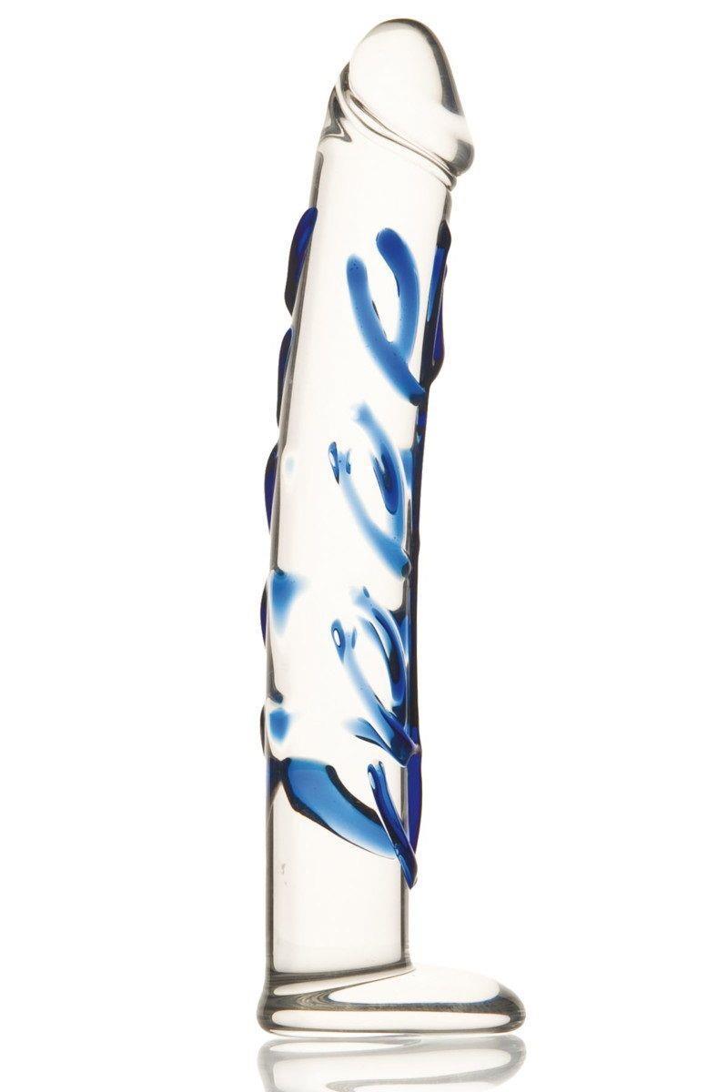 Эксклюзивный фаллоимитор из стекла ручной работы (18 см)
