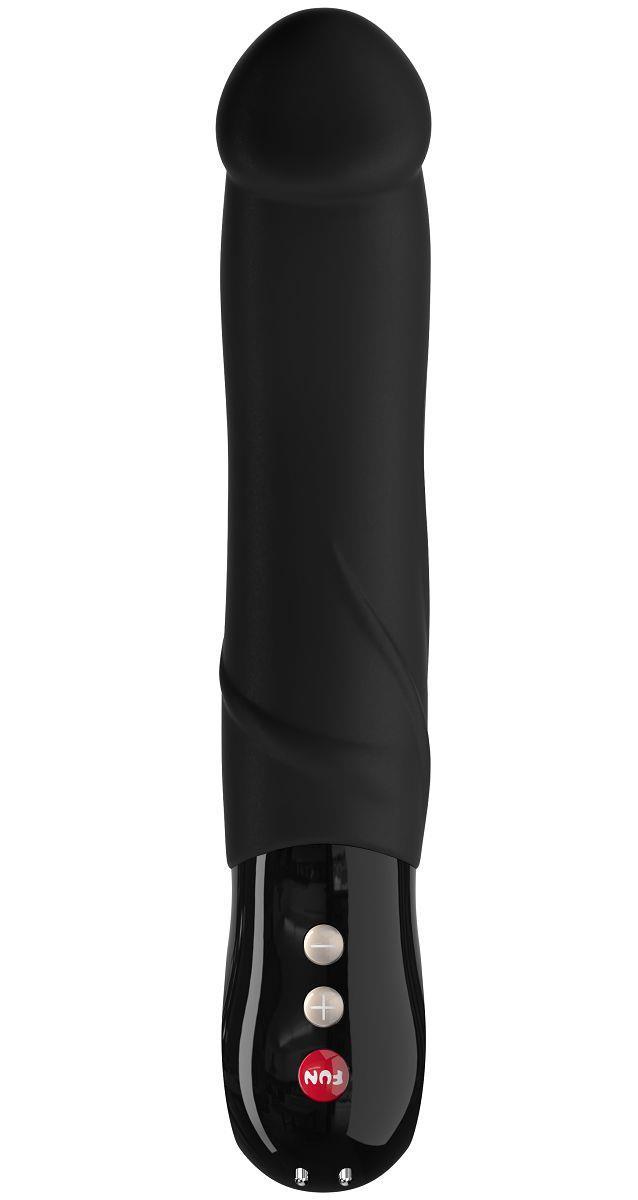 Элегантный чёрный перезаряжаемый вибратор BIG BOSS G5 - 23,5 см.