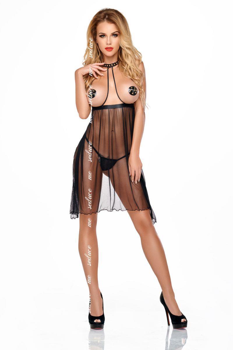 Провокационная сорочка Lucy с открытым лифом