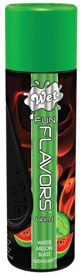 Разогревающий лубрикант Fun Flavors 4-in-1 Watermelon Blast с ароматом арбуза - 121 мл.