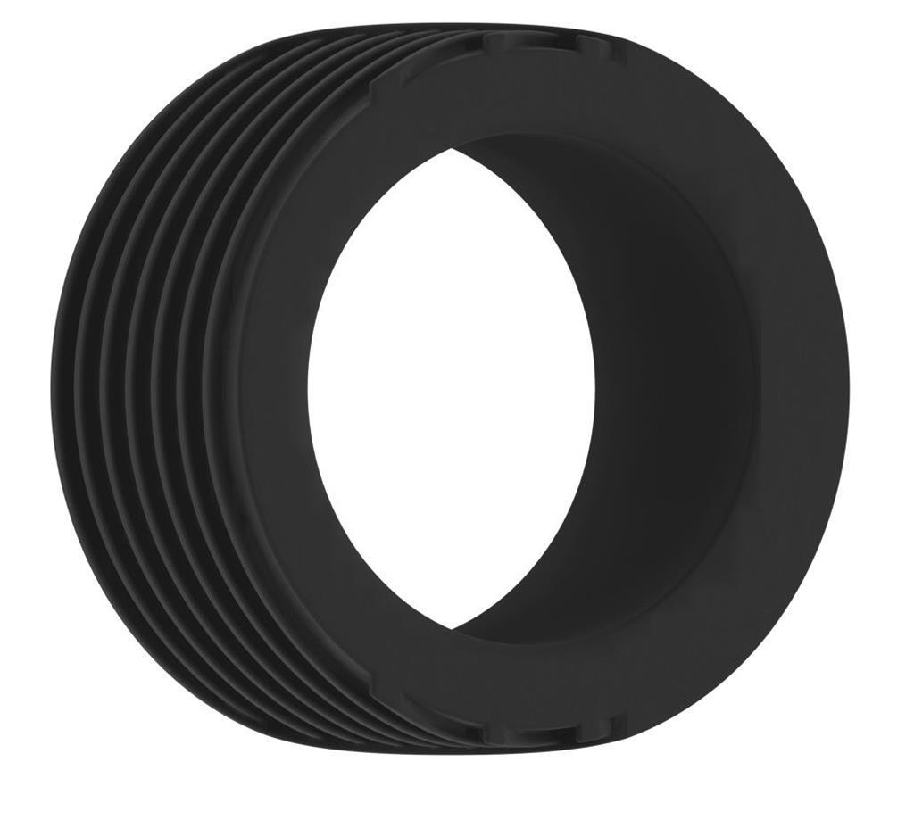 Черное эрекционное кольцо No.42 Cockring