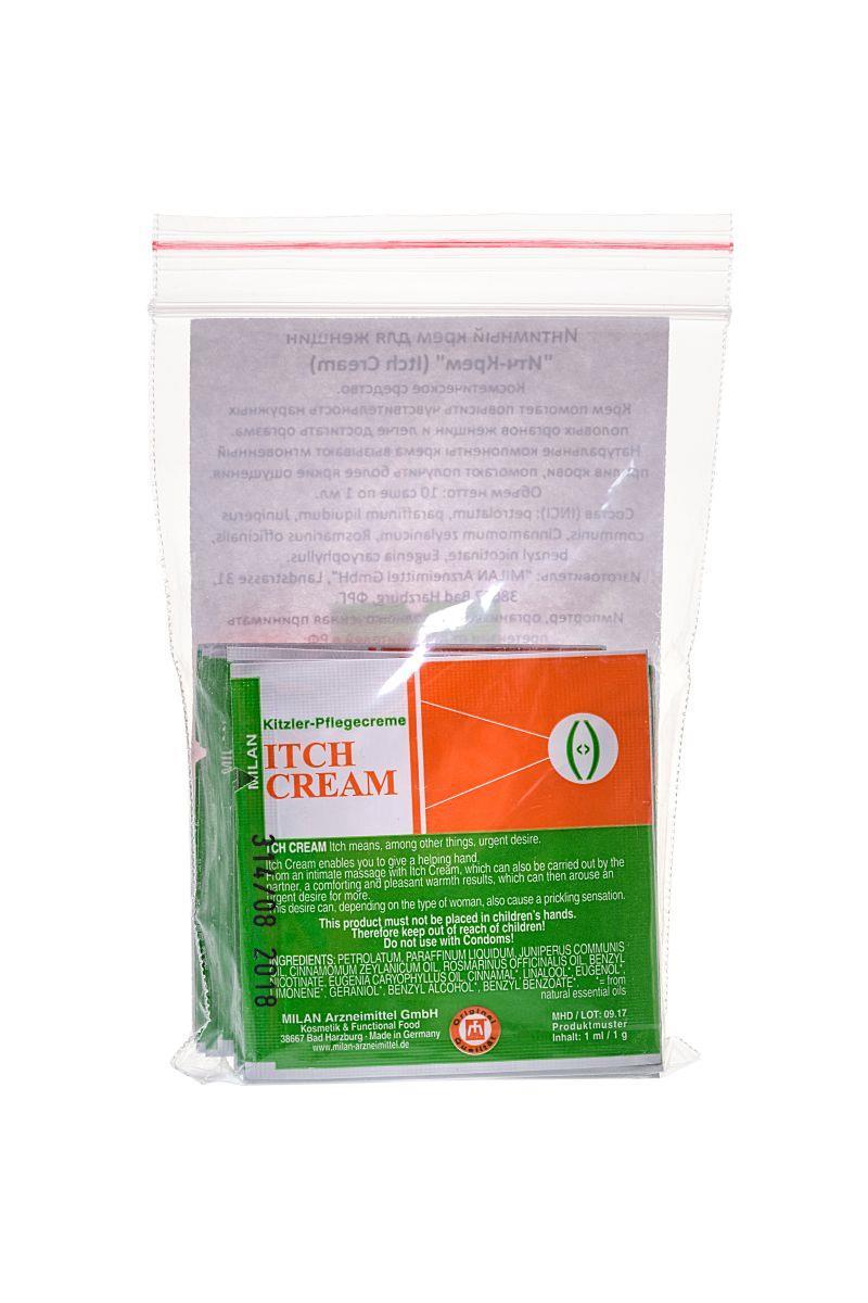 Набор Itch Cream из 10 пробников возбуждающего крема для женщин