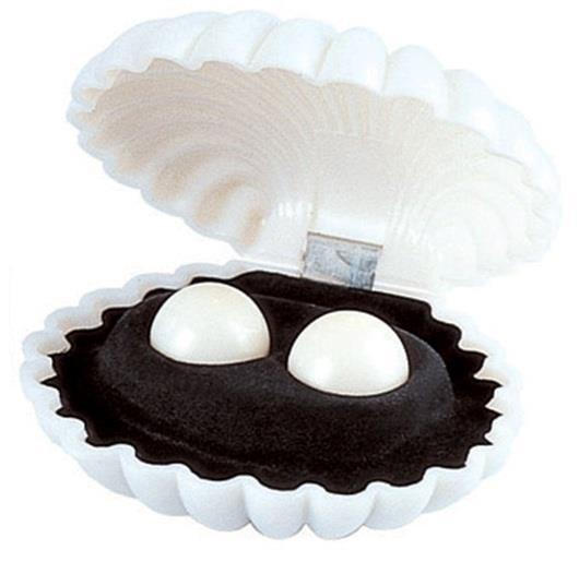 Жемчужины удовольствия - белые вагинальные шарики