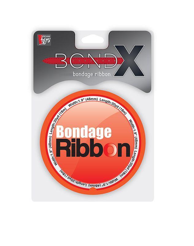 Красная лента для связывания BONDX BONDAGE RIBBON (18 м)