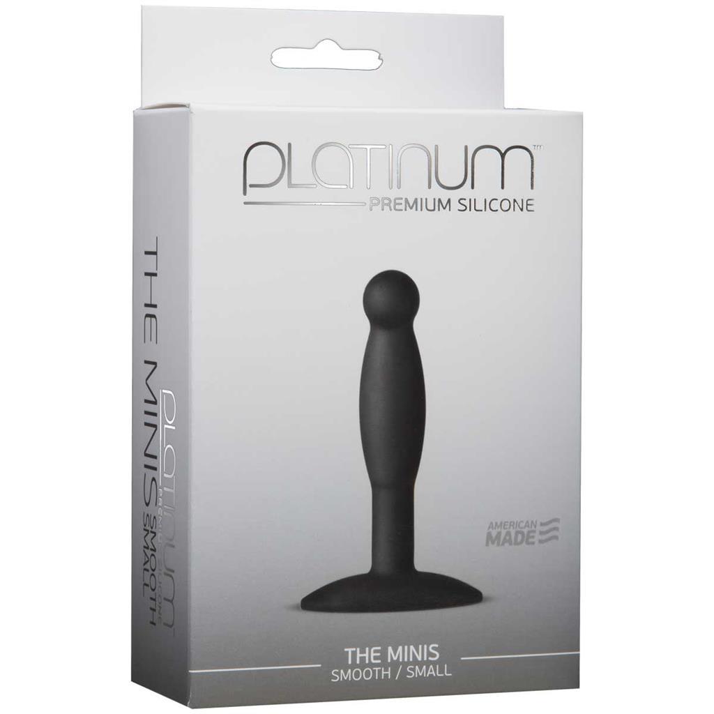 Черная анальная пробка Platinum Premium Silicone - The Minis - Smooth Small - Black S