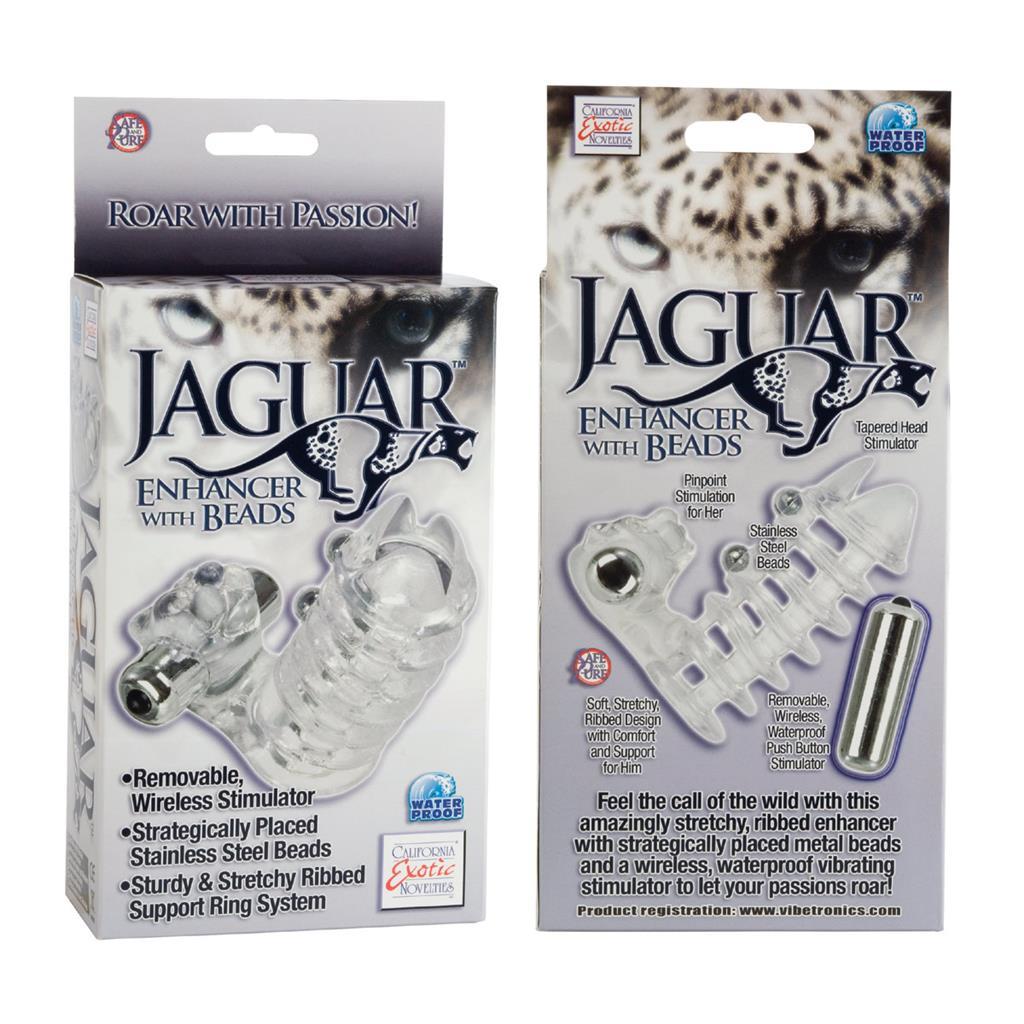 Вибронасадка с клиторальным стимулятором Jaguar Enhancer with Beads