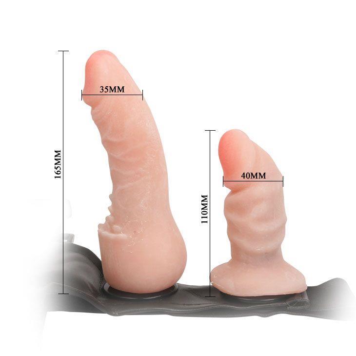 Фаллопротез на трусиках с анально-вагинальной стимуляцией