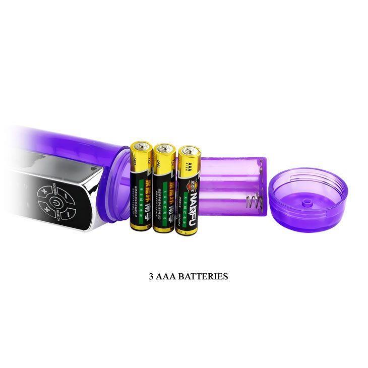Фиолетовый ротатор Passionate Baron - 21.5 см.
