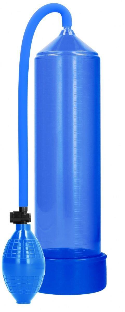 Синяя ручная вакуумная помпа для мужчин Classic Penis Pump