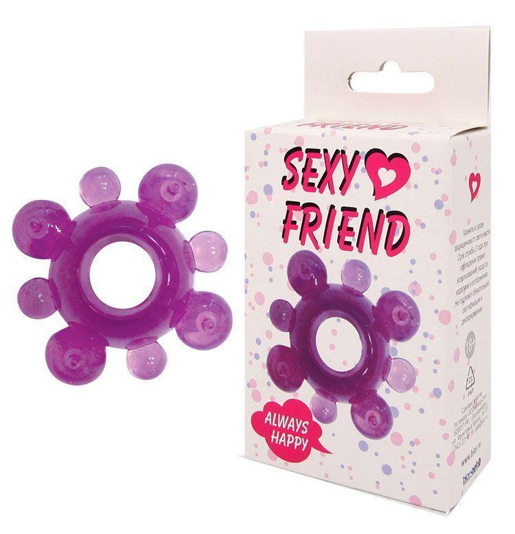 Фиолетовое эрекционное кольцо Sexy Friend