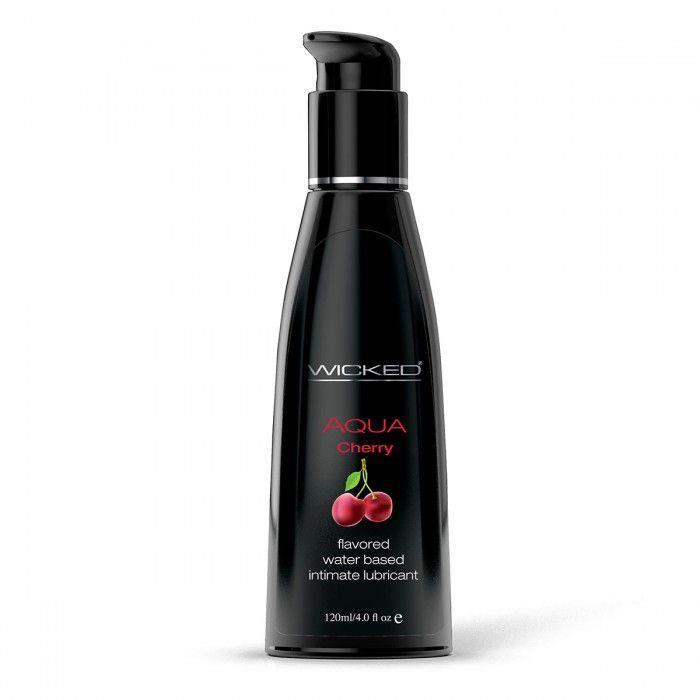 Лубрикант WICKED AQUA - Cherry с ароматом сладкой вишни (120 мл)
