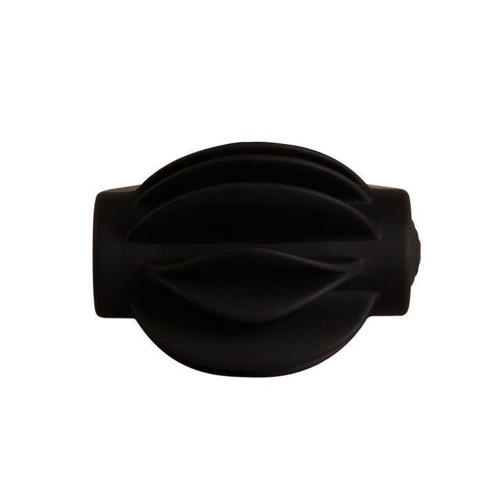 Рифленое эрекционное кольцо с вибрацией Chester