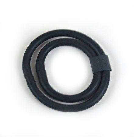 Черное двойное эрекционное кольцо