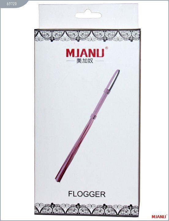 Черный кожаный флогер Mjanu с 21 хвостом (56 см)