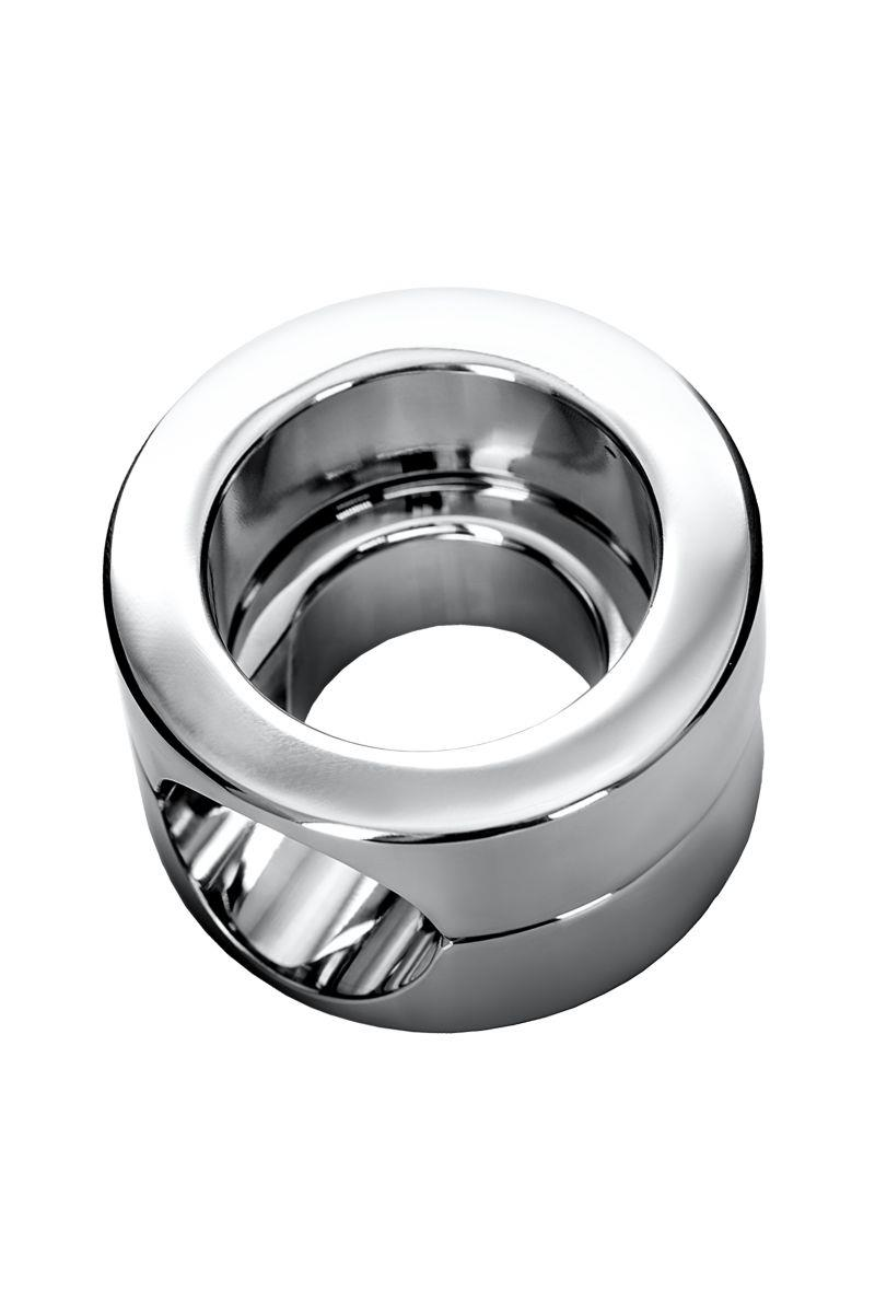 Серебристый утяжелитель на мошонку TOYFA Metal