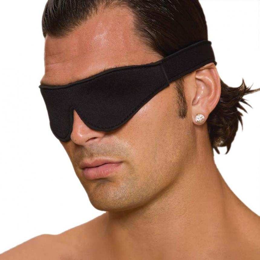 Мягкая черная маска на глаза Unisex Blindfold