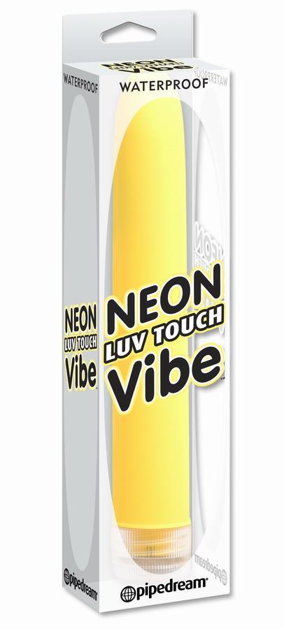 Желтый водонепроницаемый вибратор Neon Luv Touch Vibe (19 см)