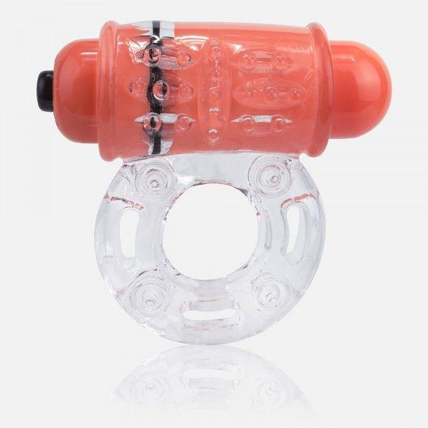Неоновое оранжевое эрекционное кольцо на пенис O wow!
