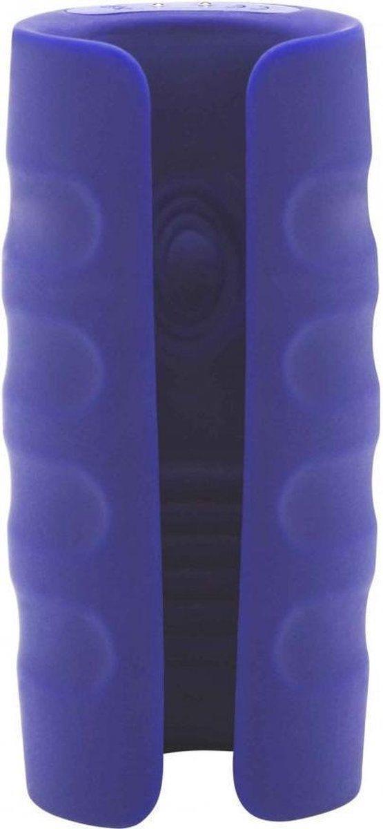 Синий вибромастурбатор с подогревом Private Turbo Stroker