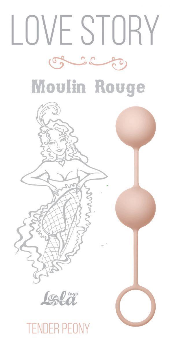 Нежно-розовые вагинальные шарики Love Story - Moulin Rouge